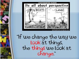 """ If we change the way we  look  at things,  the  things  we look at  change ."""