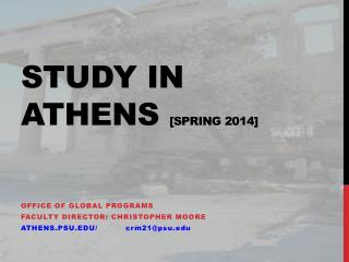 Study in Athens  [Spring 2014]