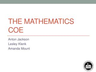 The Mathematics COE