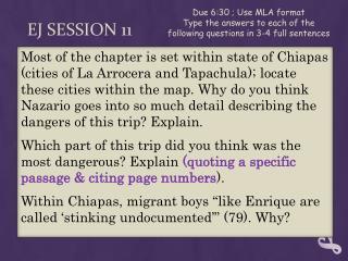 EJ  Session 11