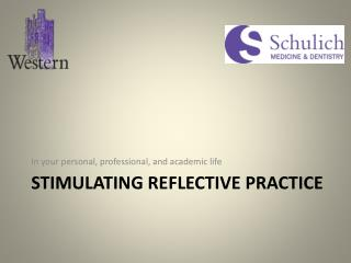 Stimulating Reflective practice