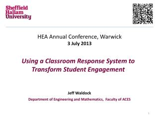 Using a Classroom Response System to Transform Student Engagement