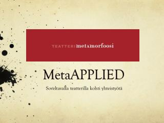 MetaAPPLIED