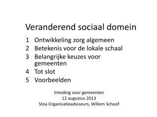 Veranderend sociaal domein