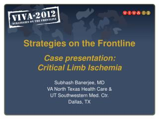 Case presentation: Critical Limb Ischemia