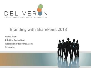 Branding with SharePoint 2013