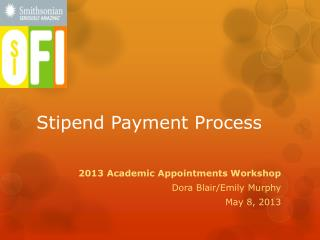 Stipend Payment Process
