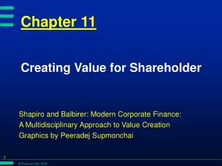 Creating Value for Shareholder