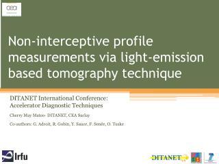 Non-interceptive profile measurements via light-emission based tomography technique