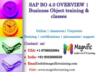 SAP BO 4.0 OVERVIEW – Business Object training & classes