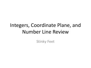 Integers, Coordinate Plane, and Number Line Review