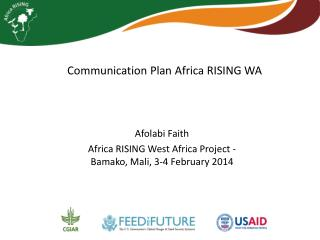 Communication Plan Africa RISING WA