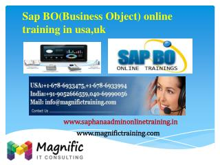 Sap BO(Business Object) online training in usa,uk