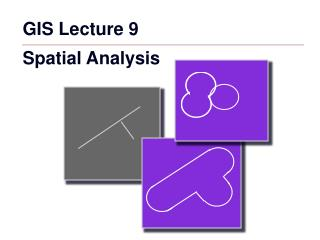 GIS Lecture 9 Spatial Analysis