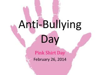 Anti-Bullying Day