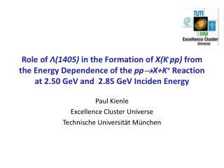 Paul Kienle Excellence Cluster Universe Technische Universität München