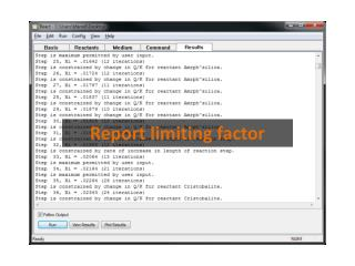 Report limiting factor