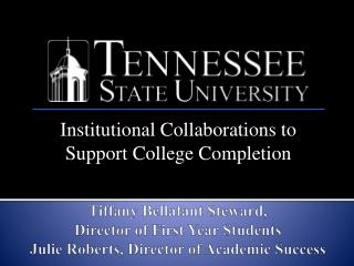 Institutional Collaborations to Support College Completion