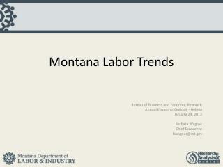 Montana Labor Trends