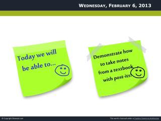 Wednesday,  February 6,  2013