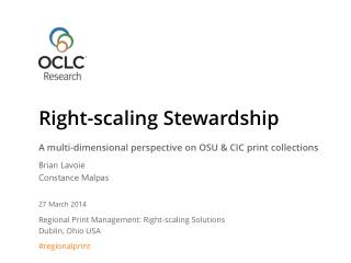 Right-scaling Stewardship