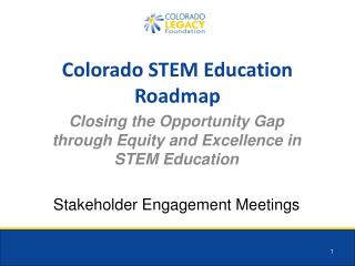 Colorado STEM Education Roadmap