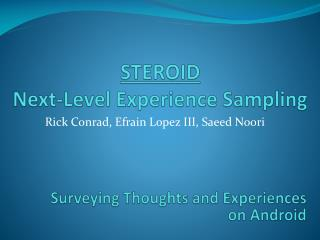 STEROID Next-Level Experience Sampling