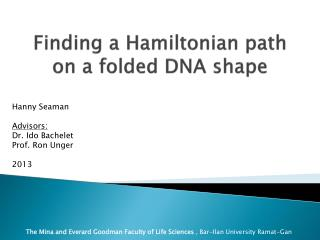 Finding a Hamiltonian path on a folded DNA shape