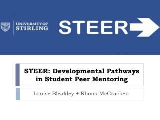 STEER:  Developmental Pathways in Student Peer Mentoring