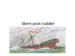 Stern post rudder