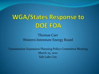 WGA/States Response to DOE FOA