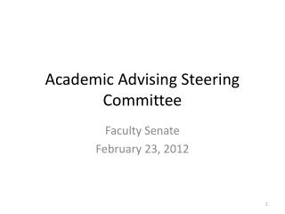 Academic Advising Steering Committee