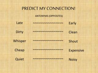 PREDICT MY CONNECTION!