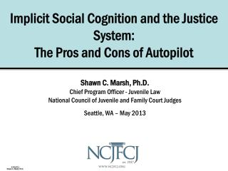 Implicit Social Cognition and the Justice System: The Pros and Cons of Autopilot