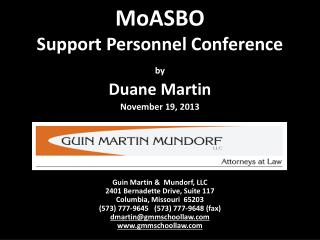 MoASBO Support Personnel Conference