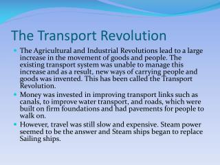 The Transport Revolution