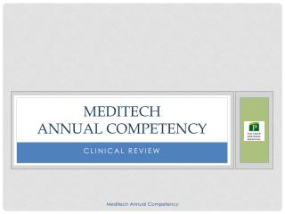 Meditech annual Competency