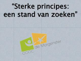 """""""Sterke principes: een stand van zoeken"""""""