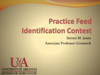 Practice Feed Identification Contest