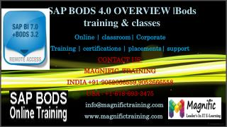 SAP BODS 4.0 OVERVIEW - Bods training & classes