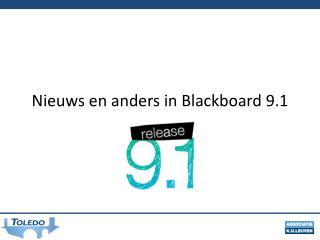 Nieuws  en  anders  in  Blackboard  9.1