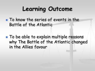 Learning Outcome