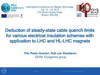 Pier Paolo Granieri, Rob van Weelderen CERN, Cryogenics group