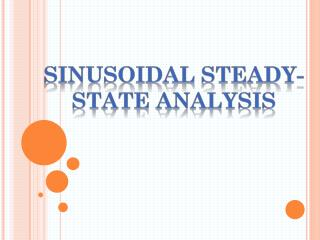 Sinusoidal steady-state analysis