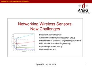 Networking Wireless Sensors: New Challenges