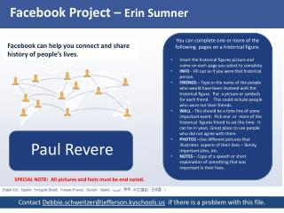 Facebook Project –  Erin Sumner