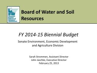 Senate  Environment,  Economic Development and Agriculture  Division