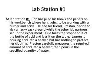 Lab Station #1