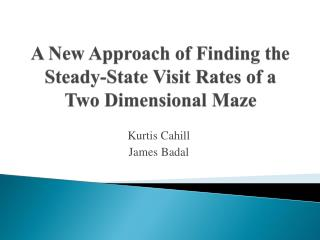 A New Approach of Finding the Steady-State Visit Rates of a Two Dimensional Maze