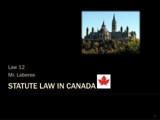 Statute Law in Canada